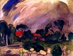 Edvard Munch | Stormy Landscape, 1902-03