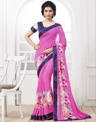 Pink Color Georgette Casual Party Sarees : Anaira Collection YF-32131