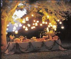 Atmosfera magica per una festa di compleanno all'aperto!