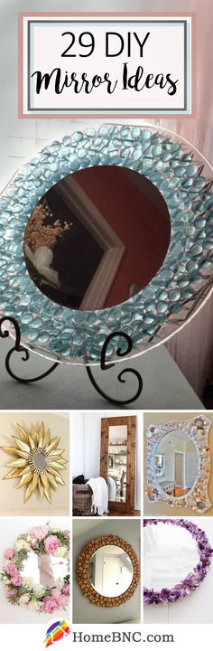 DIY Mirror Decor Ideas | How to Design | Bathroom | Bedroom | Living Room | Entry | Succulents | Beginner Crafts