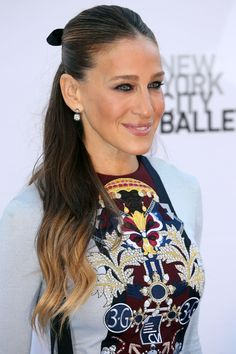 Take after Sarah Jessica Parker and dress up any hairstyle by adding a grosgrain ribbon on top.   - HarpersBAZAAR.com
