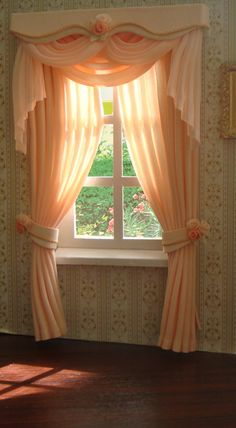 love these miniature curtains