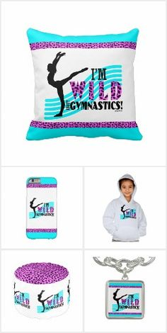 Wild About Gymnastics by Golly Girls - throw pillows, fleece blankets, iPhone cases, and more!