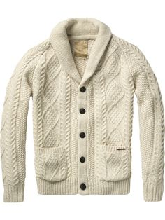 Japanese styled knitted cardigan - Scotch & Soda Online Shop