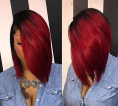 When it comes to bob hairstyles for black women, there is no limit to cuts and colors! Many of them work on all hair types & faces, so don't avoid a bob cut this season. Sew In Bob Hairstyles, Black Women Hairstyles, Hairstyles 2018, Natural Hair Styles, Short Hair Styles, Bob Styles, Love Hair, Hair Dos, Hair Type