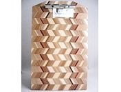Handmade wooden clipboard - legal size walnut wood checkered - Jk Creative Wood -