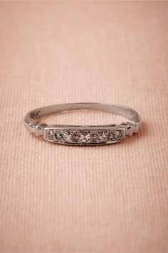 Prospector Diamond Band from BHLDN; matches my art deco inspired engagement ring