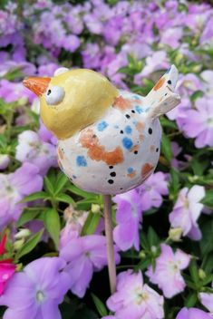 Keramikvogel Gartenkeramik Dekoobjekt handmade gepunktet Keramikfigur Handmade Art, Christmas Ornaments, Holiday Decor, Home Decor, Ceramic Birds, Things To Do, Invitations, Handmade, Creative