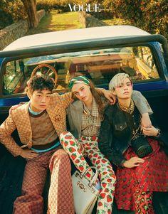 Our heaven (Vogue Korea) Gucci Fashion heaven Korea Vogue Vogue Korea, Vogue India, Gucci Fashion, 70s Fashion, High Fashion, Fashion Looks, Vogue Editorial, Editorial Fashion, Editorial Photography