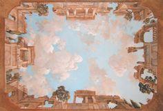 Roman Morning - Classical Ceiling Mural - Pascal Amblard