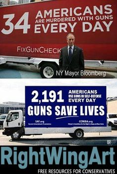 34 Americans killed everyday with guns 2191 Americans use guns in self defense everyday TRUTH ABOUT GUNS