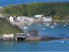 Porth Dinllaen, the village built on the beach :) run at high tide. The pub being the main attraction the 'Ty Coch inn'
