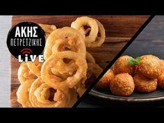 Τυροκροκέτες & Onion Rings | LIVE | Άκης Πετρετζίκης - YouTube