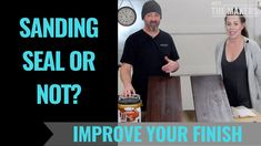Sanding Seal or Not? How to improve your furniture finishing skills - Meet The Makers Oak Stain, Improve Yourself, Seal, It Is Finished, Lettering, Youtube, Furniture, Harbor Seal