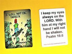 Scripture Doodle Mini Bible Verse Card of Encouragement/Psalm