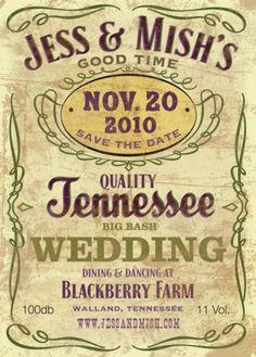 cute country wedding invite