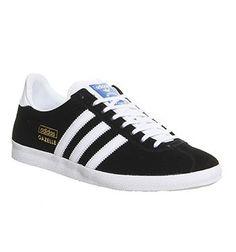 finest selection 93310 1fc0c Adidas Gazelle Og Black White Metallic Gold - Unisex Sports