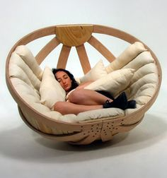 Cradle rocking chair. I would never get out.