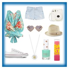 """""""im on vacation!!!!"""" by raneemibrahim ❤ liked on Polyvore featuring Zimmermann, MANGO, Converse, Wildfox, Daisy Jewellery, Express, Topshop and Maybelline"""