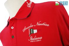 Polo uomo Scuola nautica italiana RED 419316