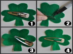 Shamrock Patterns Print Out | position your snap barrette over one of the shamrocks making sure ...