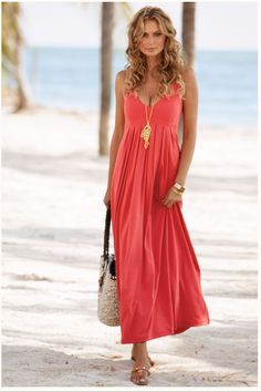 Delightful to help the website, with this occasion I'll show you concerning Beach Wedding Guest Look. beach wedding guest look. a brightly colored beach wedding guest look featuring inspiration . Coral Maxi Dresses, Beach Dresses, Casual Dresses, Dresses 2016, Beach Wedding Attire, Wedding Beach, Wedding Dresses, Summer Wedding, Dress Attire