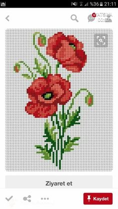 Cross Stitch Embroidery, Hand Embroidery, Poppies, Knitting, Crochet, Crafts, Towels, Embroidery Stitches, Dressmaking