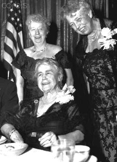 First Lady ~~Virginia Truman, Edith Wilson and Eleanor Roosevelt Seen Together at a Democratic Party Gathering December 29, 1961 ♡❀♡✿♡❁♡✾♡✽♡❃♡❀♡ http://en.wikipedia.org/wiki/Bess_Truman http://en.wikipedia.org/wiki/Eleanor_Roosevelt
