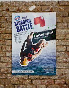 Plakatserie zur Blobbing Battle 2013 Party, Free, Baseball Cards, Parties