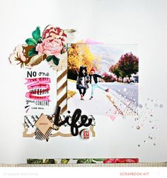 Sparkle life 2 Scrapbooking layout