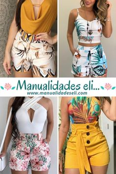 Cute Outfits With Shorts, Short Outfits, Chic Outfits, Fashion Outfits, Trendy Outfits, Elegant Summer Outfits, Long Dress Design, Fashion Clipart, Chor