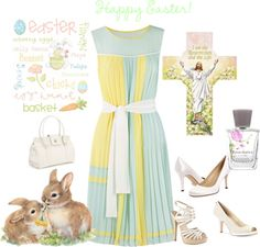 """""""Easter Sunday"""" by lulurose98 ❤ liked on Polyvore"""