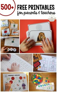 Looking for free printables for your homeschool or classroom? You'll love this GIANT set of organized printables for preschool through second grade. Math activities, printable books and more! by janelle Preschool Learning, Early Learning, Fun Learning, Learning Activities, Preschool Activities, Preschool Letters, Kindergarten Counting, Childhood Education, Kids Education