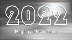 Free Happy New Year 2022 Grey Background