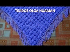 chal tejido a crochet en punto rococo y relieve video 1 - YouTube