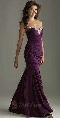 NextProm.com Offers High Quality Long Purple Prom Dresses, Mermaid Style Prom Dresses, Long Prom Dresses,Priced At Only USD USD $162.00 (Free Shipping)