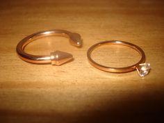 Anillos joya en oro rosa, disponibles en la tienda online de www.isabella.es