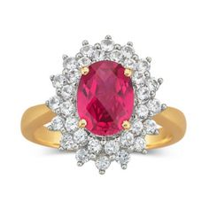 Lab Created Ruby & White Sapphire Ring  found at @JCPenney