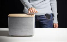 P.A.C.O. :: altavoz Bluetooth de cemento y madera