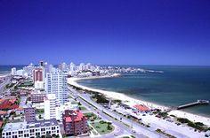 la playa de Punta del Este, Uruguay