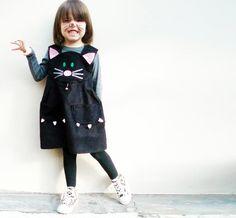 vestido de gata para niña