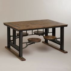 An awesome vintage industrial cafeteria table http://vintageflat.com/vintage-cafeteria-table/ #vintage #furniture #homedecor #interiordesign #home #decor #design #industrial