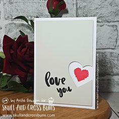 Hi guys   Today I'm sharing some makes using a brand new stamp set recently launched by Skull and Cross Buns, just in time for Valentine's D...