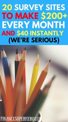 Online surveys are an easy way to make extra money in your spare time. Check out these 20 great surveys and grab $40 in sign-up bonuses today!