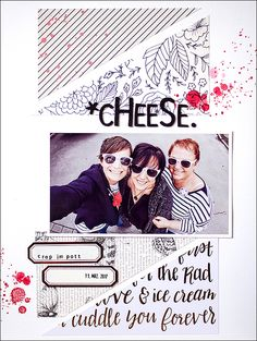 Stephanie Berger- be more creative - Scrapbooking Layout - Cheese