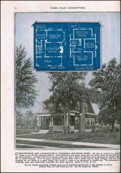 The Daily Bungalow Cottages And Bungalows, Vintage House Plans, School Architecture, Tiny House, Floor Plans, Flooring, How To Plan, Frame, Pictures