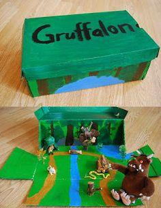 Har gjort en sagolåda med Gruffalon!