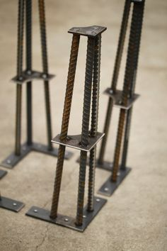 Metal Table Legs 16 Set of 4 Legs ReBar by nakedMETALstudio