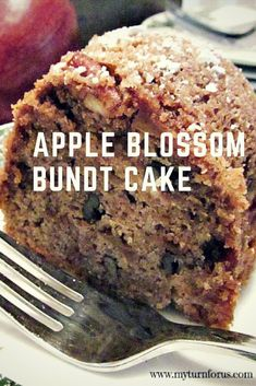 An Apple Blossom Cake is a moist raw apple cake with apples, pecans, and cinnamon. This Apple Bundt Cake recipe is our favorite a coffee cake recipe. Apple Bundt Cake Recipes, Apple Coffee Cakes, Apple Recipes, Apple Cakes, Apple Desserts, Holiday Desserts, Holiday Recipes, Baking Recipes, Cookie Recipes