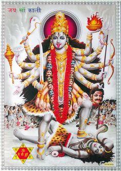 """hinducosmos:  """" Jai Maa Kali (via ebay: Indian_ash)  """""""